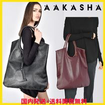 Aakasha Casual Style Unisex A4 Plain Leather Handmade Party Style