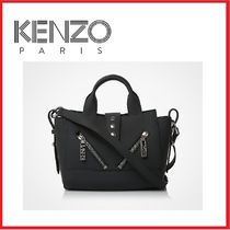 KENZO Street Style Plain Oversized Shoulder Bags