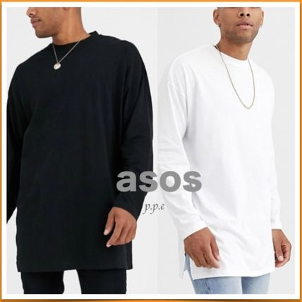 ASOS Long Sleeve Street Style Long Sleeves Plain Cotton Oversized