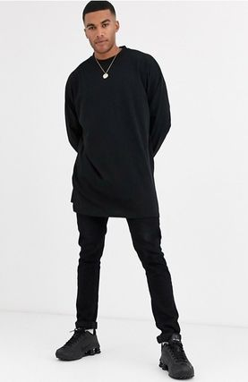 ASOS Long Sleeve Street Style Long Sleeves Plain Cotton Oversized 5