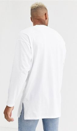 ASOS Long Sleeve Street Style Long Sleeves Plain Cotton Oversized 7