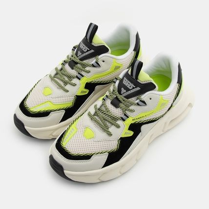 BEAN POLE Low-Top Rubber Sole Casual Style Unisex Blended Fabrics Street Style