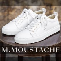 M. MOUSTACHE Casual Style Street Style Plain Leather Elegant Style