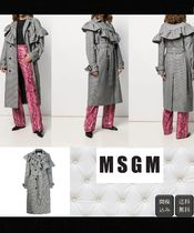MSGM Casual Style Wool Long Peacoats