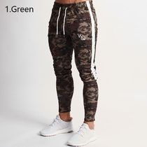 VANQUISH FITNESS Tapered Pants Camouflage Sweat Street Style Plain Logo