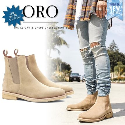 Suede Street Style Plain Leather Chelsea Boots Chelsea Boots