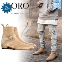 ORO LOS ANGELES Suede Street Style Plain Leather Boots