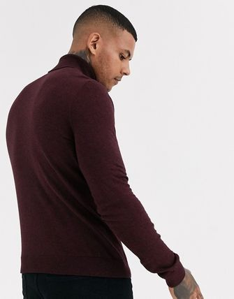 TOPMAN Knits & Sweaters Street Style Long Sleeves Plain Cotton Knits & Sweaters 18