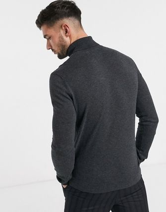 TOPMAN Knits & Sweaters Street Style Long Sleeves Plain Cotton Knits & Sweaters 9