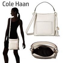Cole Haan Casual Style Tassel 2WAY Plain Leather Shoulder Bags