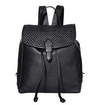 Cole Haan Casual Style Plain Leather Logo Backpacks