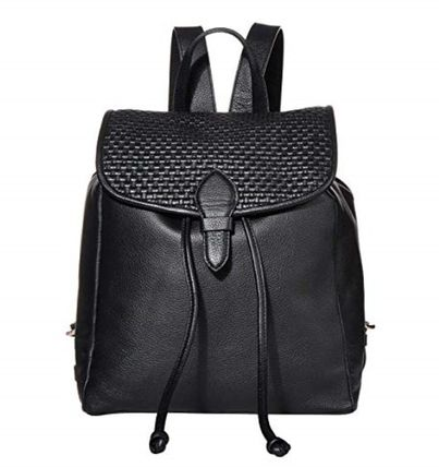 Casual Style Plain Leather Logo Backpacks