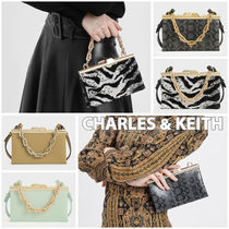 Charles&Keith Casual Style Faux Fur 2WAY Chain Plain Other Animal Patterns
