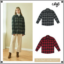 CLIF WEAR Other Check Patterns Casual Style Unisex Street Style