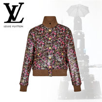 Louis Vuitton Short Flower Patterns Casual Style Wool Cashmere