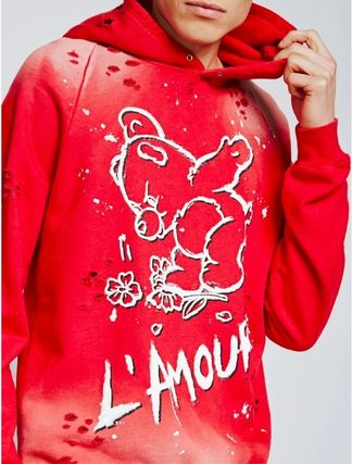 Pullovers Unisex Sweat Street Style Long Sleeves Cotton