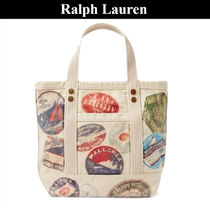 Ralph Lauren Casual Style Unisex Street Style Totes