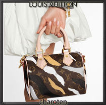 Louis Vuitton SPEEDY Camouflage Monogram Casual Style Unisex Calfskin Canvas 3WAY