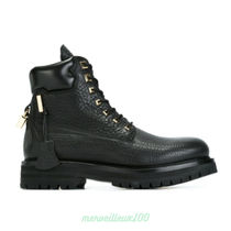 BUSCEMI Street Style Leather Engineer Boots