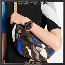 Louis Vuitton BUMBAG Camouflage Monogram Unisex Calfskin Canvas 3WAY Bi-color