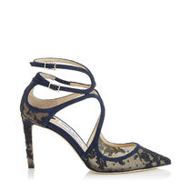 Jimmy Choo Flower Patterns Suede Blended Fabrics Leather Pin Heels