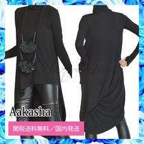 Aakasha Street Style Long Sleeves Medium High-Neck Tunics