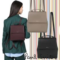 Paul Smith Casual Style 2WAY Plain Leather Office Style Elegant Style