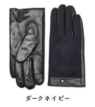 JILLSTUART Leather Logo Leather & Faux Leather Gloves