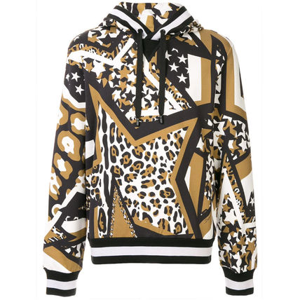 Dolce & Gabbana Sweatshirts Pullovers Star Leopard Patterns Street Style Long Sleeves 2