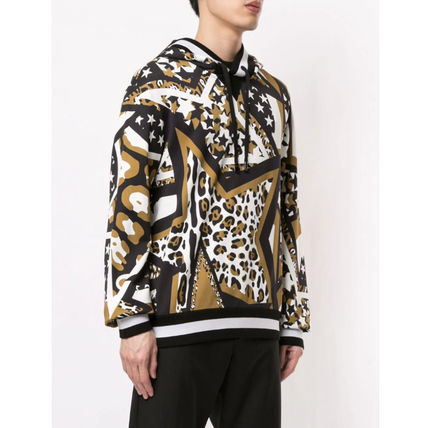 Dolce & Gabbana Sweatshirts Pullovers Star Leopard Patterns Street Style Long Sleeves 3