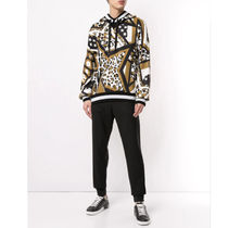 Dolce & Gabbana Sweatshirts Pullovers Star Leopard Patterns Street Style Long Sleeves 5