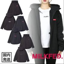 X-girl Plain Medium Oversized Parkas