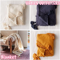 Urban Outfitters Unisex Tassel Plain Throws