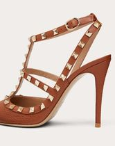 VALENTINO Casual Style Studded Leather Party Style Office Style