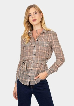 Other Plaid Patterns Long Sleeves Shirts & Blouses