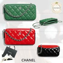 CHANEL TIMELESS CLASSICS Lambskin Chain Elegant Style Clutches
