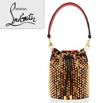 Christian Louboutin Leopard Patterns Studded 2WAY Chain Leather Party Style