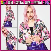 DOLLS KILL Short Casual Style Other Animal Patterns Biker Jackets