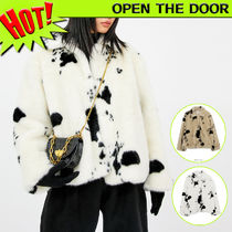 OPEN THE DOOR Short Faux Fur Street Style Other Animal Patterns