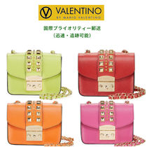 Mario Valentino Casual Style Studded 2WAY Chain Plain Leather Party Style