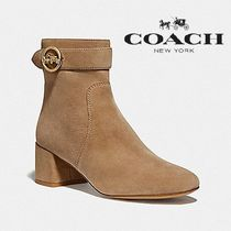 Coach Casual Style Suede Street Style Plain Block Heels