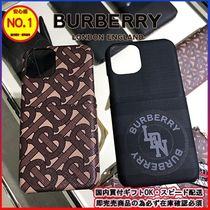 Burberry Monogram Unisex Street Style Plain Smart Phone Cases