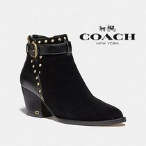 Coach Rubber Sole Casual Style Enamel Blended Fabrics Studded