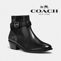 Coach Monogram Rubber Sole Casual Style Blended Fabrics