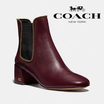 Coach Rubber Sole Casual Style Street Style Plain Leather