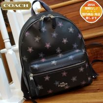 Coach CHARLIE Star Dots Unisex Canvas A4 Leather PVC Clothing Logo