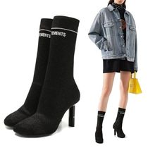 VETEMENTS Casual Style Collaboration Bi-color Pin Heels Party Style