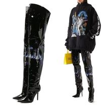 VETEMENTS Casual Style Collaboration Leather Pin Heels Party Style