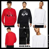 DIESEL Crew Neck Pullovers Sweat Long Sleeves Plain Cotton