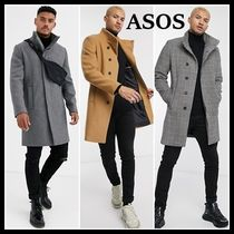 ASOS Other Check Patterns Wool Plain Chester Coats